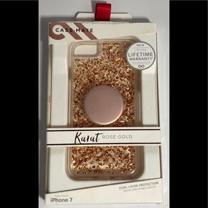 Casemate Karat Rose gold IPhone 7  w/ pop socket
